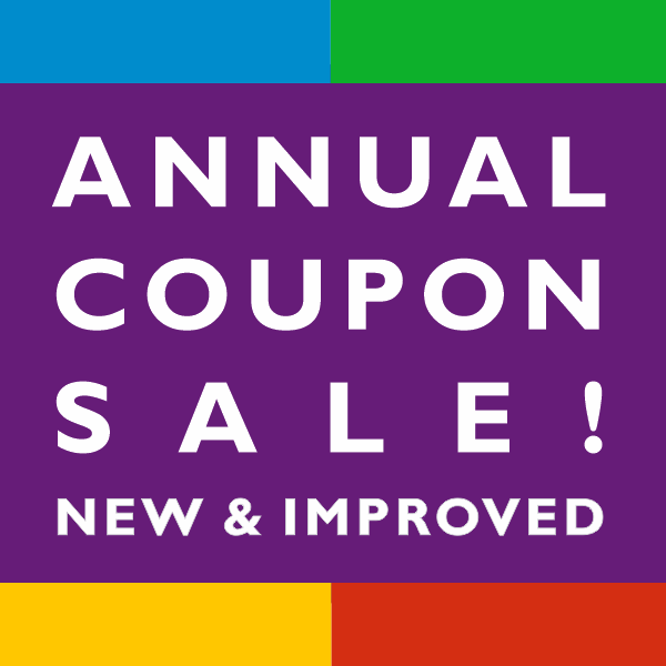 Annual Coupon Sale! New and Improved