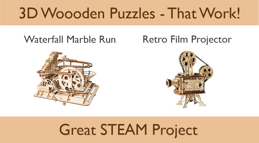 3D Wooden Puzzles by ROKR